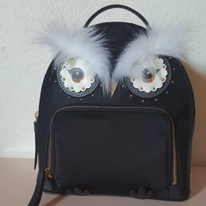 Kate Spade Owl Tomi Star Bright Black Backpack
